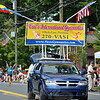 Vasis Gym was  represented at this year's Newtown Labor Day Parade with a large banner, a minivan and a number of students showing off what they have been learning at the gymnastics studio. (Crevier photo)