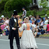 Costumed charater actors drew a lot of attention accurately portraying President and Mrs Abraham Lincoln in the 2012 Labor Day parade. (Voket photo)