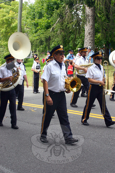 Members of the band that accompanied the Milford-based Pyramid Shriners collective.  (Bee Photo, Hicks)