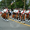 The Celtic Cross Pipes and Drum at this year's Newtown Labor Day Parade. (Crevier photo)