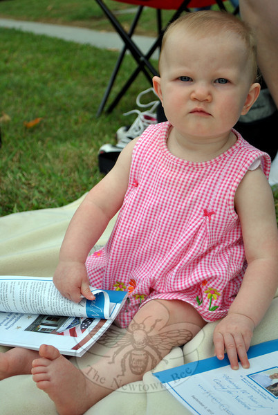 Elizabeth Hughes at the Newtown Labor Day Parade. (Crevier photo)