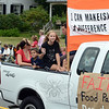 Newtown Labor Day Parade served as a drop-off location for donations that were back to FAITH Food Pantry on this float, proving once again that One Can Make(s) A Difference. (Voket photo)