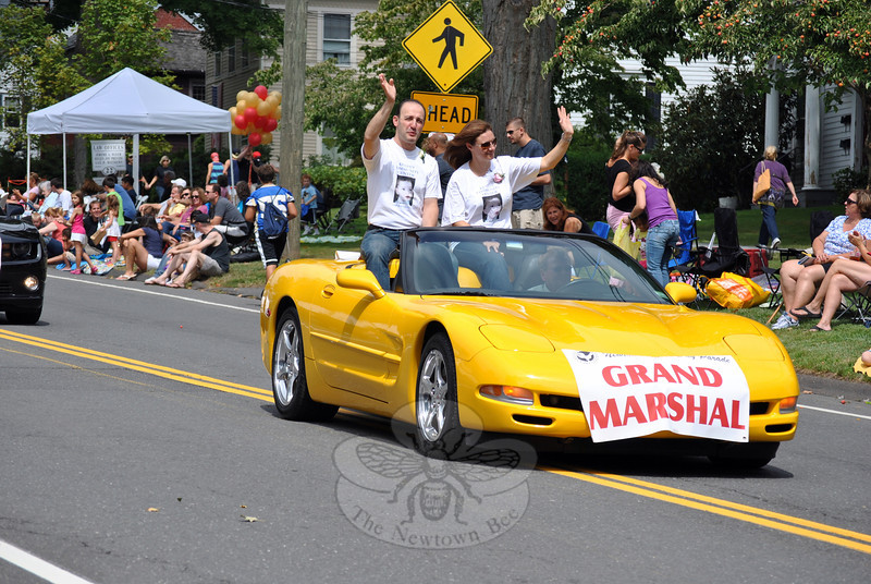 Parade Grand Marshals Dr Z Michael and Jocelyn Taweh. (Crevier photo)