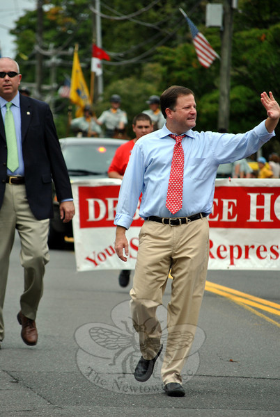 Republican John McKinney at this year's Newtown Labor Day Parade. (Crevier photo)