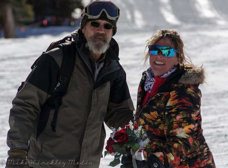 2015 Valentines Day Wedding at Loveland Ski Area, Colorado, USA.