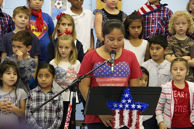 Carl Schurz Elementary Veteran's Day Ceremony held on Nov. 11, 2016.