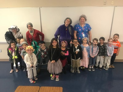 Lone Star Early Childhood Center students and staff celebrated the 100th day of school by dressing up as if they were 100 years old.