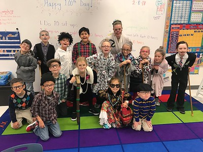 Veramendi Elementary 100th day of school