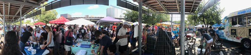 panoramic picture of the 2017 Science Fest