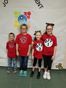 Memorial Elementary students: From Left to Right: Cody Warren, Alys Berghofer, Grace Fore, Emma Racine