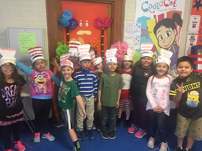 Carl Schurz First Grade Dual Language students in Ms. Gonzales class dress as the Cat in the Hat