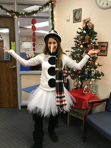 County Line Elementary Dress Like a Snowman Day!