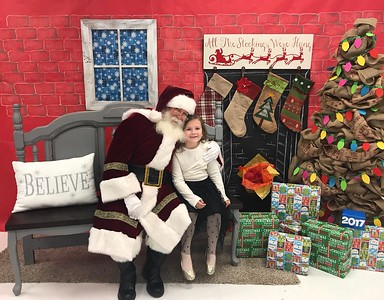 Voss Farms Elementary offered photos with Santa Claus.