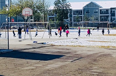 Lone Star Early Childhood Center - recess in the snow. Not an everyday event in New Braunfels to say the least! So glad these littles were able to enjoy snow!