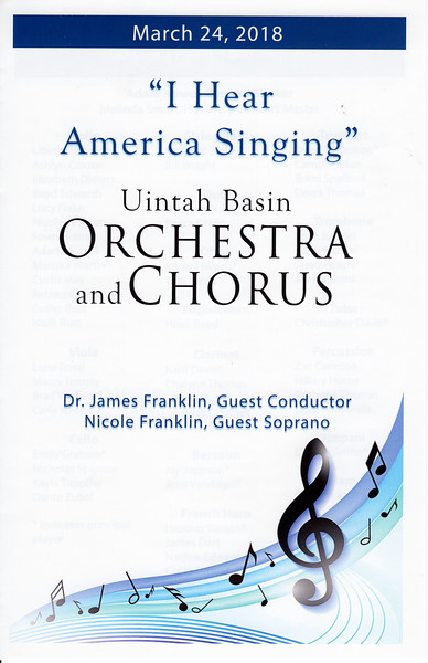 2018-03-24 Uintah Basin Orchestra & Chorus - I Hear America Singing_0001 - Program