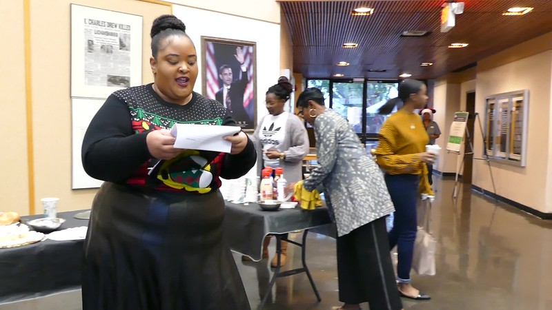 Video:  Brittney Miller, of the Staff Management Council and OSA, announces the winner of the Christmas Door Decorating Contest. First Place Winners received $100 and 2nd place ties won $50 each.