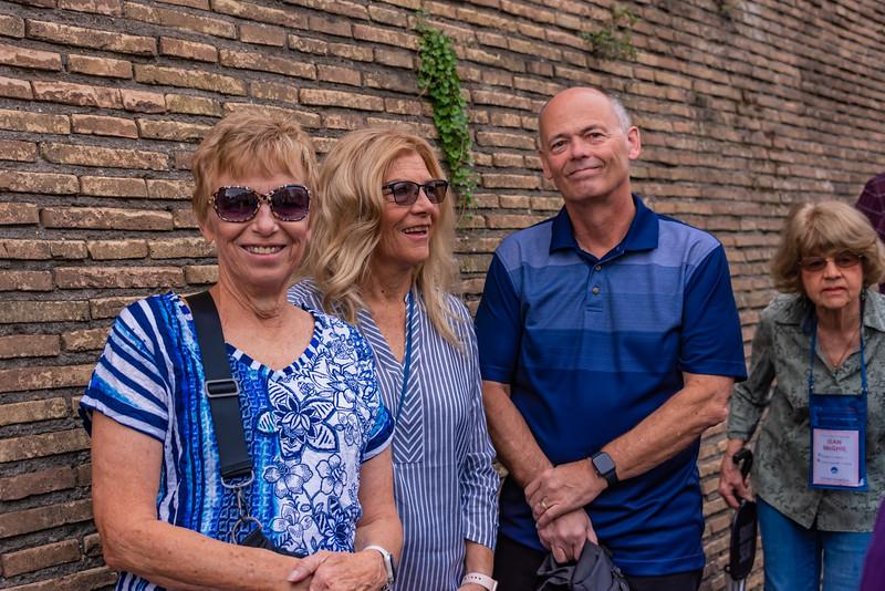 Rome - Anita, Kaye & Ken Waiting for the Vatican Museum