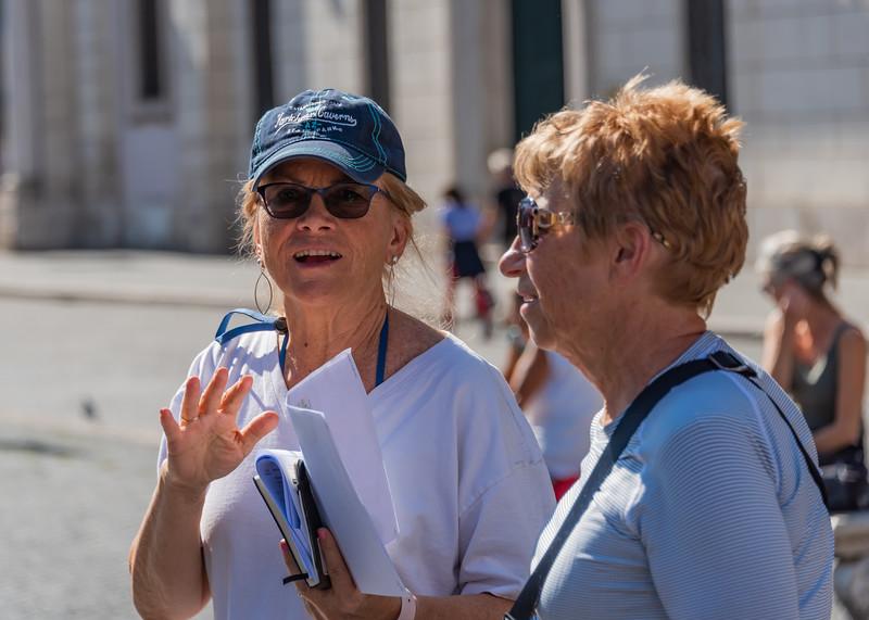 Rome - Kaye & Anita at the Piazza Navona