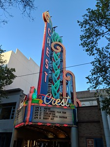 Crest Theatre marquee, April 12, 2019.