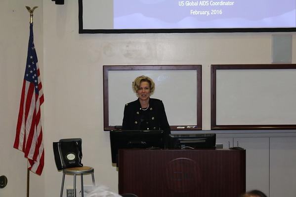 Ambassador Deborah Birx visits CDU for HIV/AIDS Forum