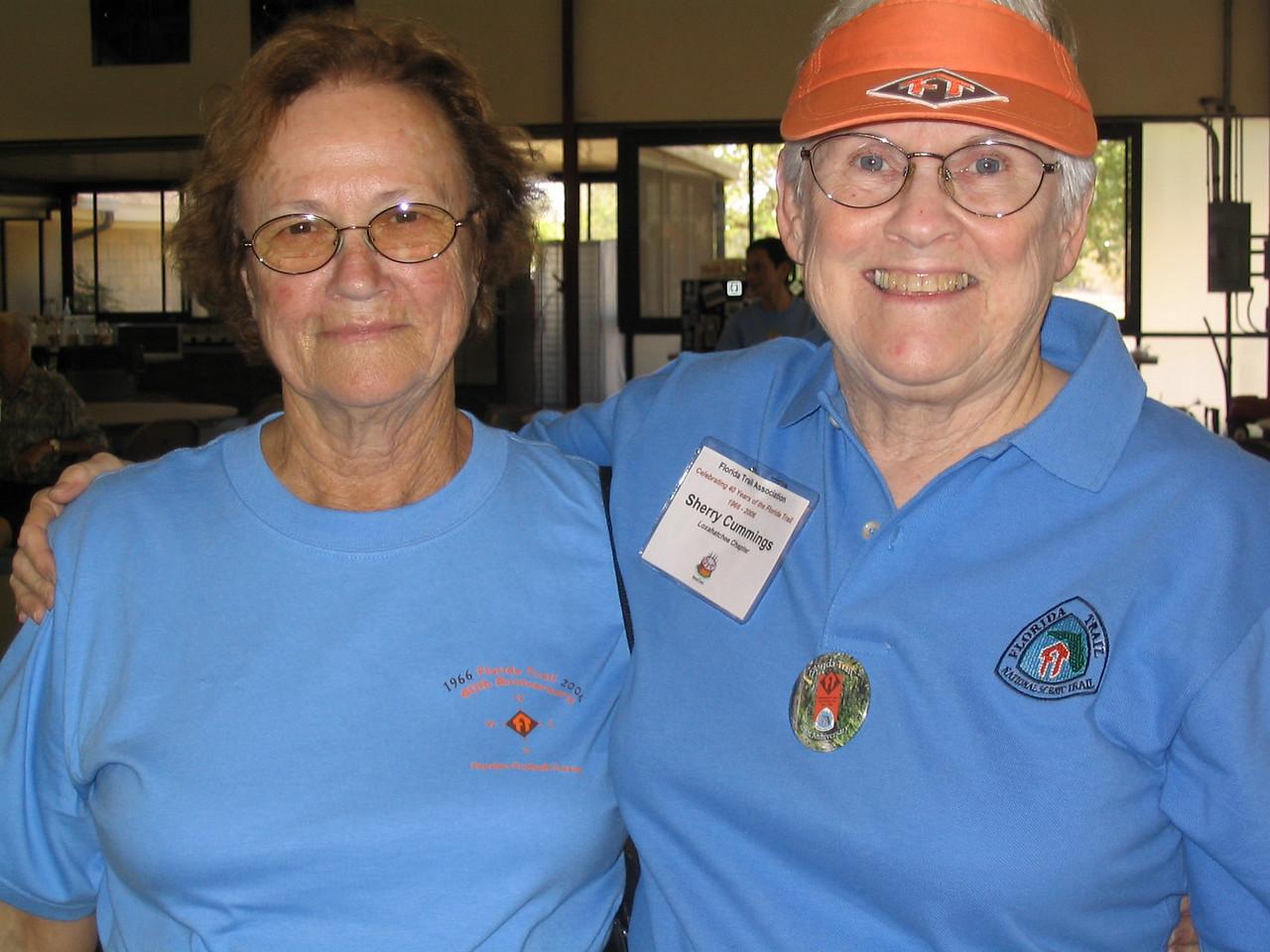 Best buddies Daisy Palmer and Sherry Cummings<br /> PHOTO CREDIT: Diane Wilkins / Florida Trail Association