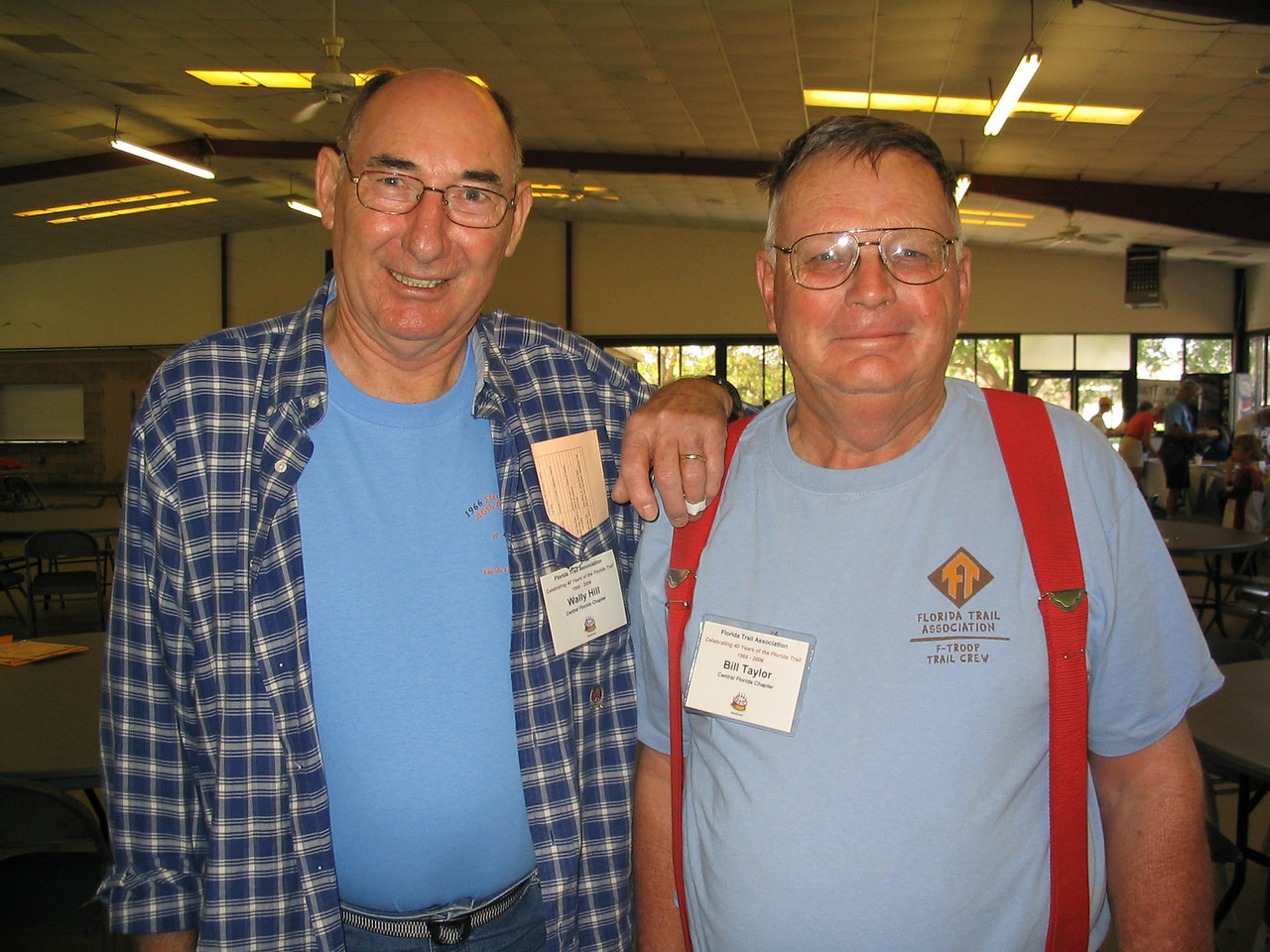 Wally Hill and Bill Taylor, tireless section leaders from Central Florida<br /> PHOTO CREDIT: Diane Wilkins / Florida Trail Association