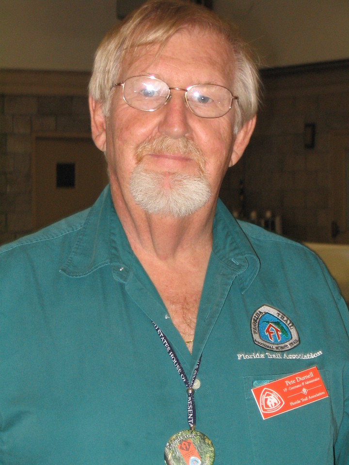 FTA vice-president Pete Durnell<br /> PHOTO CREDIT: Diane Wilkins / Florida Trail Association