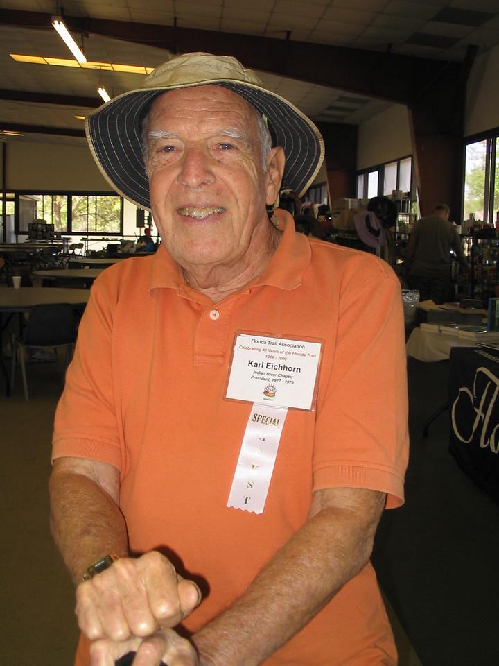 FTA past president Karl Eichhorn<br /> PHOTO CREDIT: Diane Wilkins / Florida Trail Association