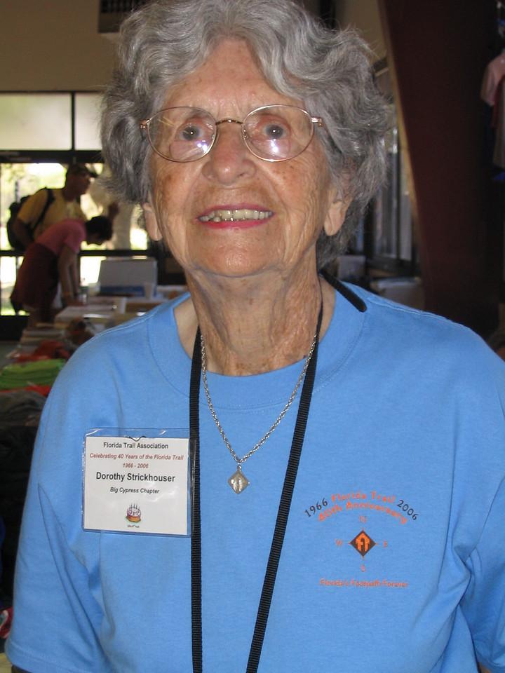 Dorothy Strickhouser, from Miami<br /> PHOTO CREDIT: Diane Wilkins / Florida Trail Association