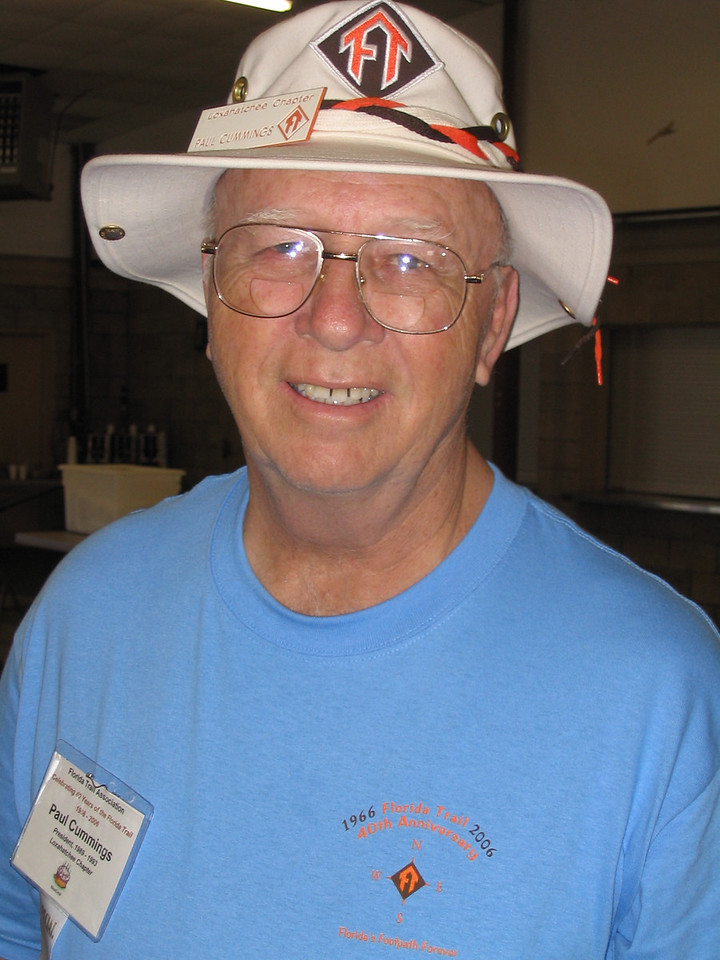 FTA past president Paul Cummings<br /> PHOTO CREDIT: Diane Wilkins / Florida Trail Association