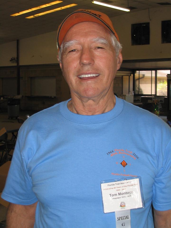 Tom Montoya, FTA's second president<br /> PHOTO CREDIT: Diane Wilkins / Florida Trail Association
