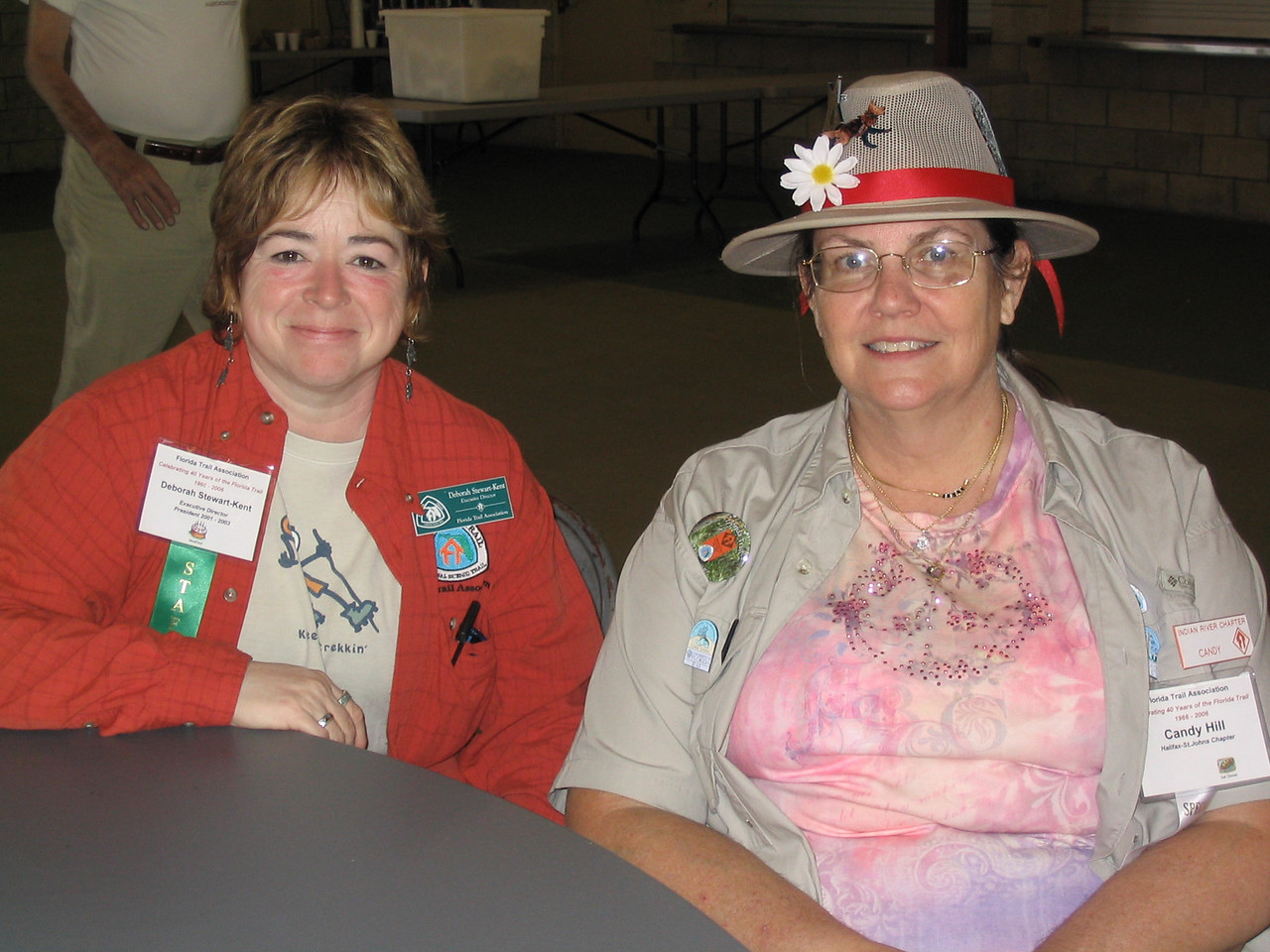 Executive Director Deborah Stewart-Kent and board member Candy Hill<br /> PHOTO CREDIT: Diane Wilkins / Florida Trail Association