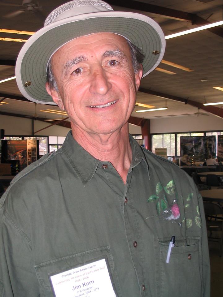 Jim Kern, FTA's founder and first president<br /> PHOTO CREDIT: Diane Wilkins / Florida Trail Association