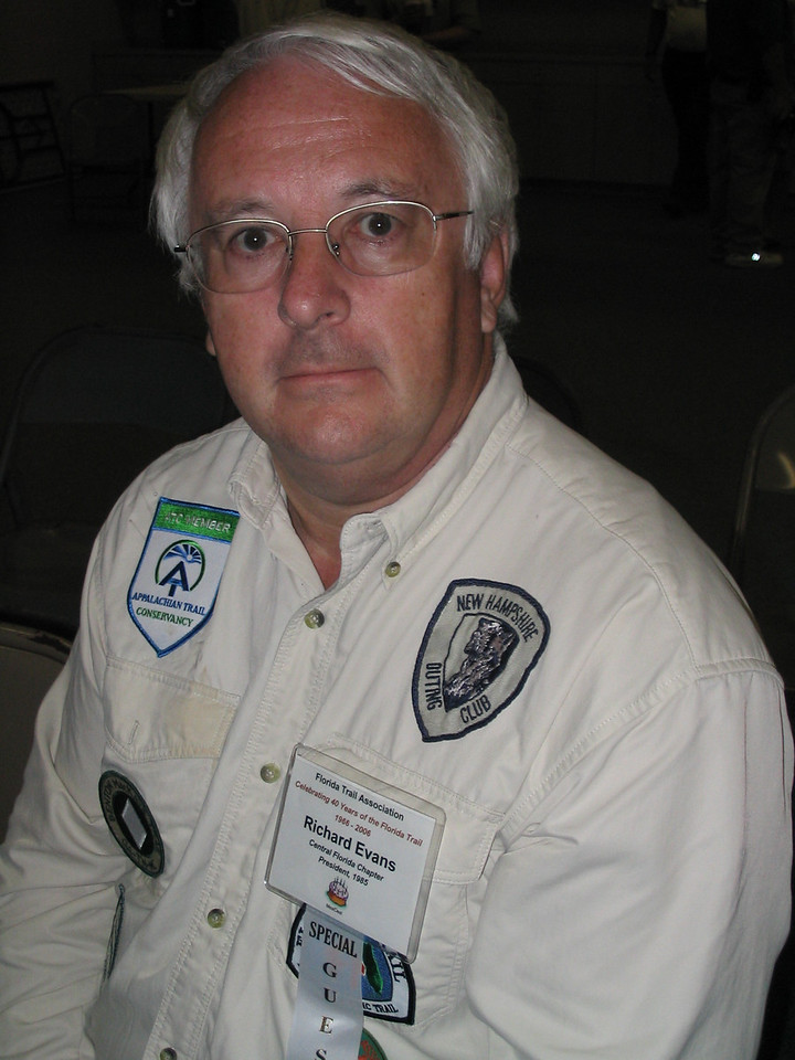 FTA past president Dick Evans<br /> PHOTO CREDIT: Diane Wilkins / Florida Trail Association