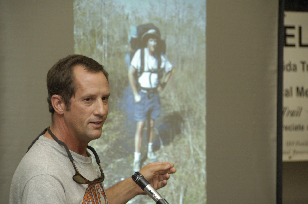 Johnny Molloy talking about his thru-hike<br /> Photo Credit: FTA / Kent Wimmer