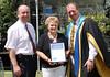 Presented to Lyn by Mayor Bruce Rowan