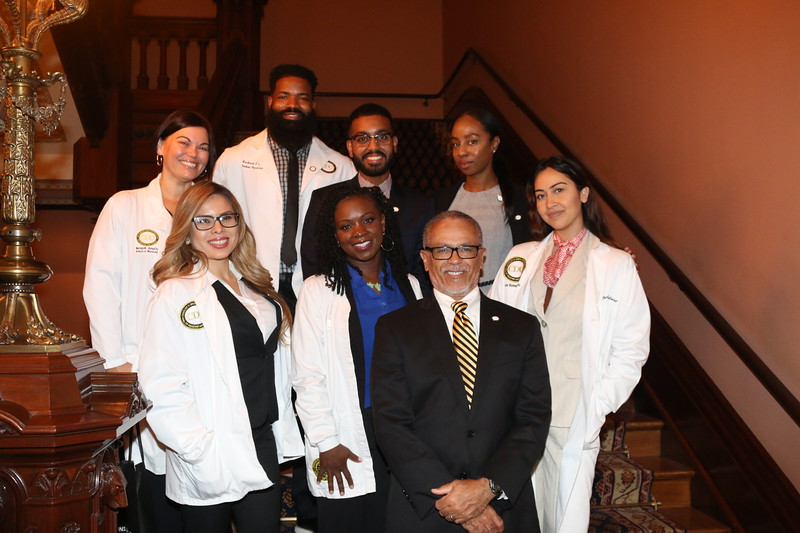 This time the CDU students are joined by CDU President Dr. David M. Carlisle, MD, PhD