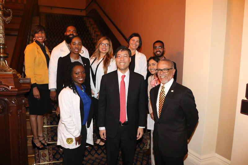 Posing with CA State Senator Dr. Richard Pan