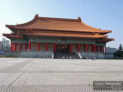A building on the grounds of the Chaing Kai-Shek Memorial
