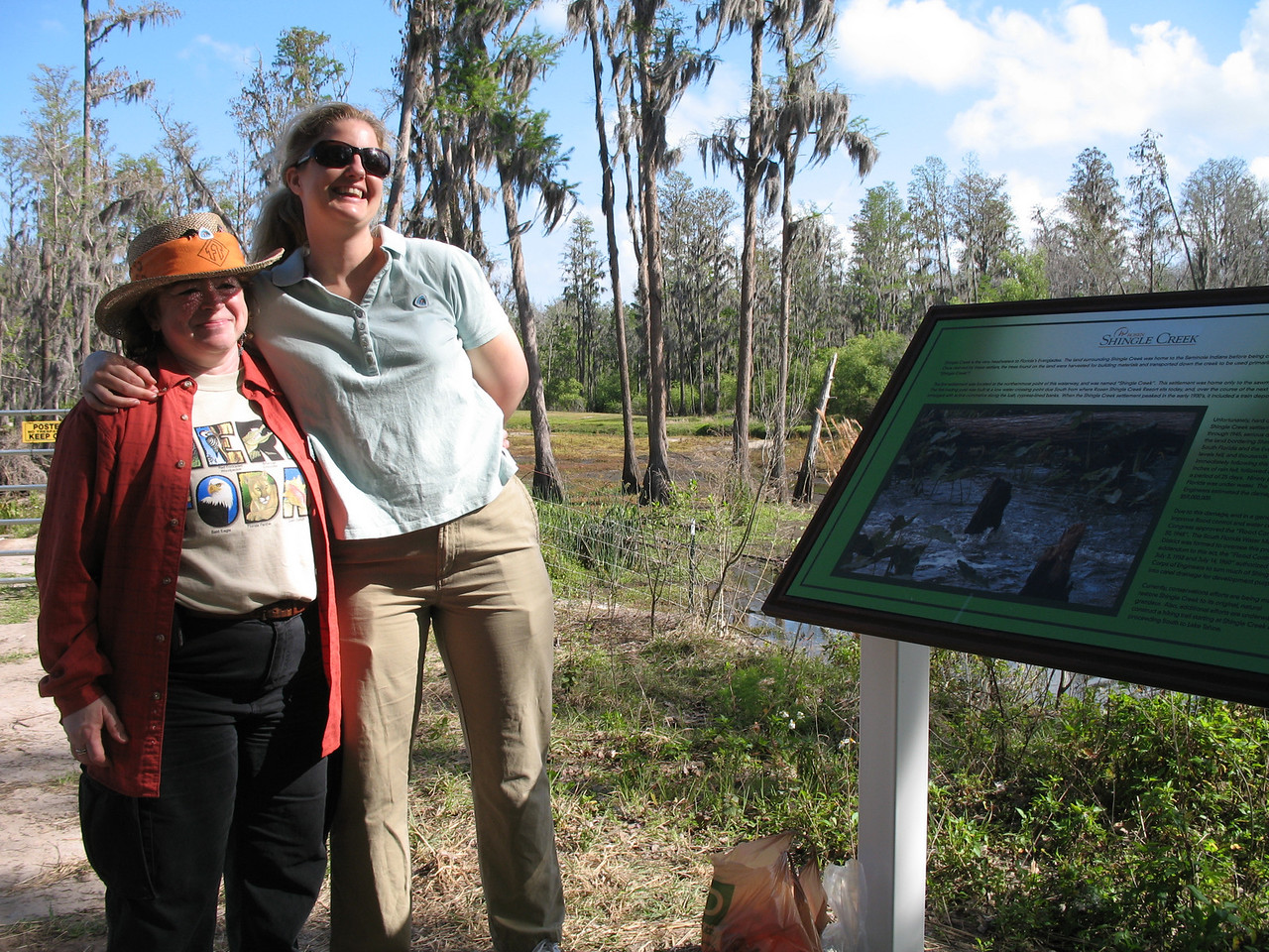 Executive Director Deborah Stewart-Kent and Trail Manager Michelle Mitchell at the launch point