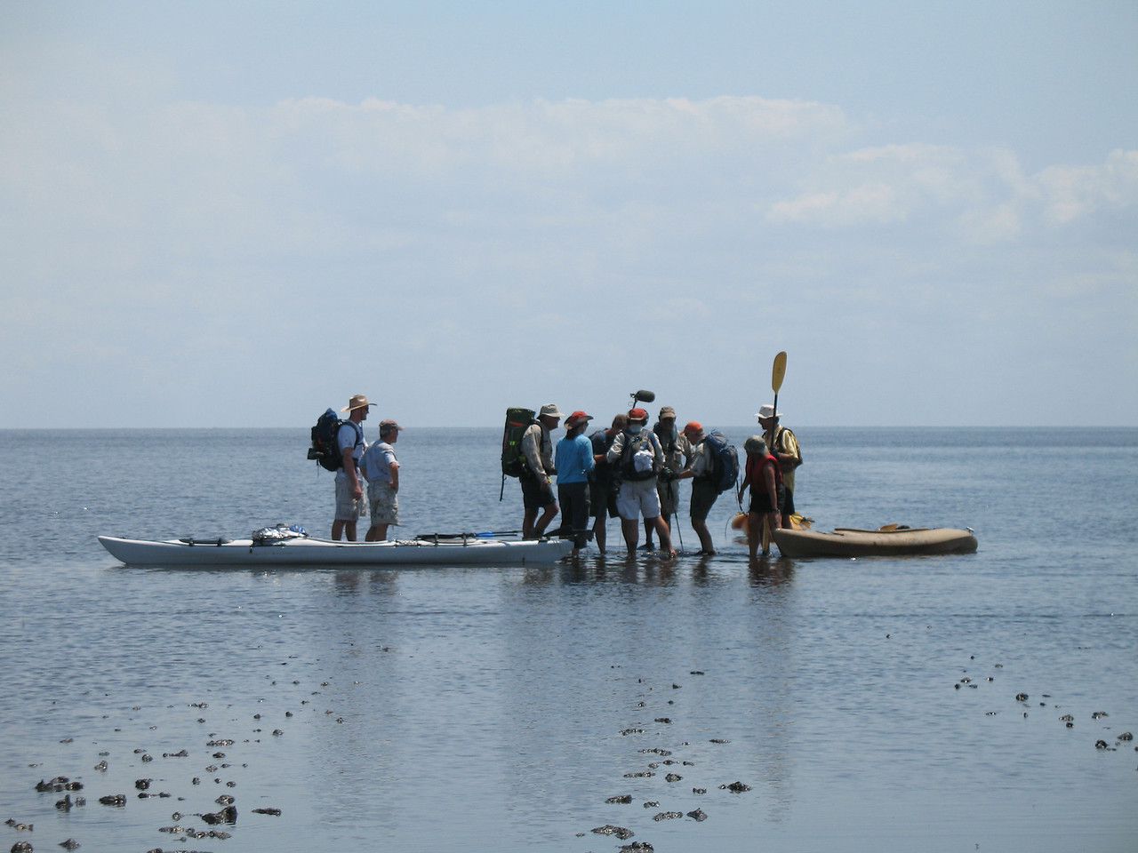 Closing shots: hikers and kayakers meet in Lake Okeechobee