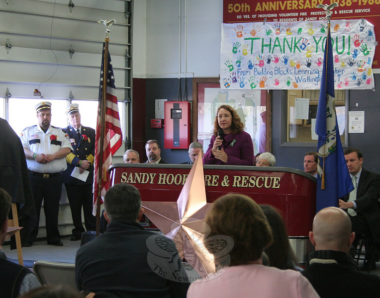 """When I think of Newtown,"" said Congresswoman Elizabeth Esty, ""I think of two things: service above self, and love above all."""