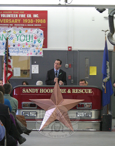 """Few of us will have the impact of these first responders, these children, and these educators,"" Gov Malloy said during his remarks."
