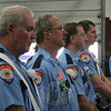 Sandy Hook Color Guard members Stephen Stohl, Bradley Richardson, Kevin Stoyak and Jeff Thomas.