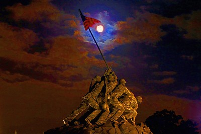 Iwo Jima Under The Blood Moon (Photography by Karl Rudd)