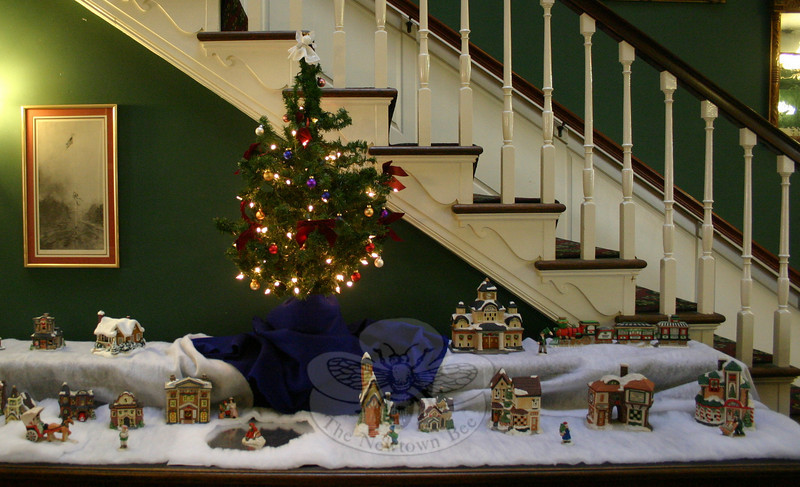 A Christmas village display at C.H. Booth Library.  (Hicks photo)
