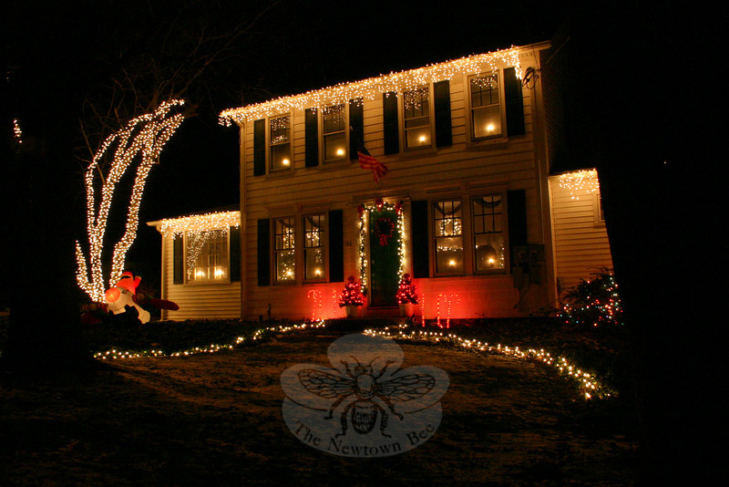 For the second year, the family at the corner of Mt Pleasant Road and Academy Lane has a bright and colorful display.  (Hicks photo)