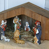 The creche has been set up at Newtown United Methodist Church, with the final figure to be added on Christmas Eve.  (Hicks photo)