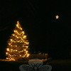 Neighbors on Floral Heights have decorations that complement each other. At one home, a pine tree has been wrapped in white lights and at the next home, a single star has been placed at the top of a tree, creating a magical effect for passersby.  (Hicks photo)