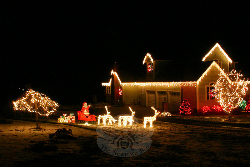 Santa and his sleigh can also be found at 13 Middleton Road.  (Hicks photo)